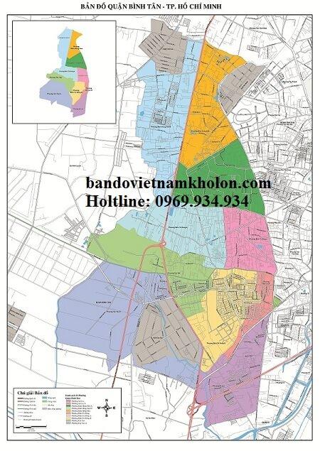 Bản Đồ Quận Bình Tân-Thành Phồ Hồ Chí Minh