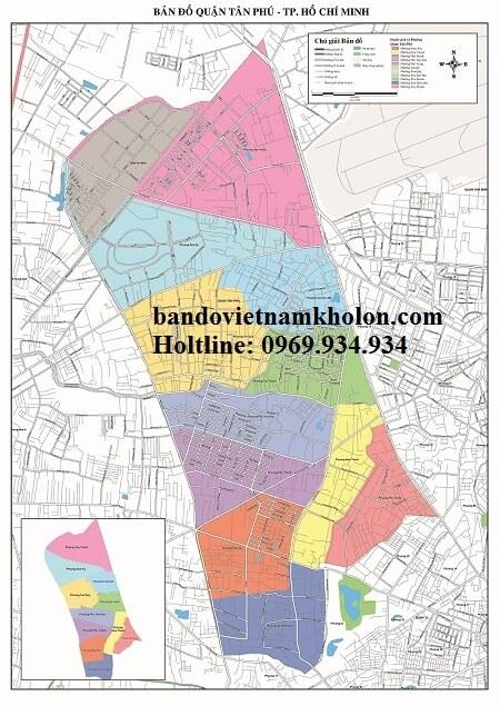Bản Đồ Quận Tân Phú-Thành Phồ Hồ Chí Minh