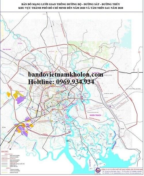 Bản đồ mạng lưới giao thông TPHCM