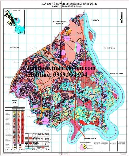 Bản Đồ Quy Hoạch Sử Dụng Đất Quận 9