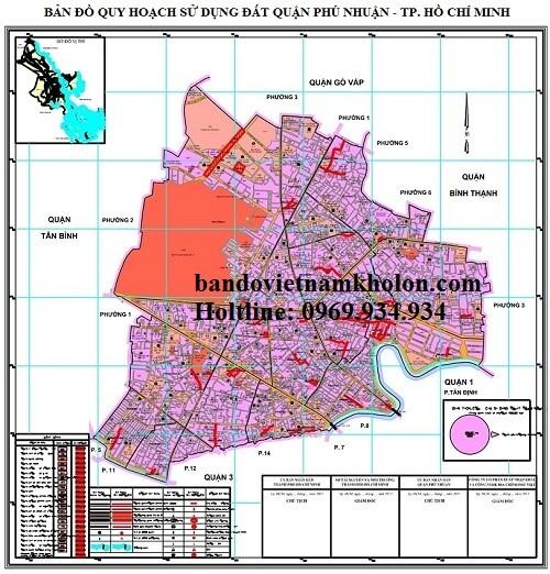 Bản Đồ Quy Hoạch Sử Dụng Đất Quận Phú Nhuận