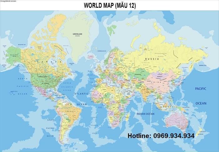 bản đồ thế giới bán ở đâu chất lượng