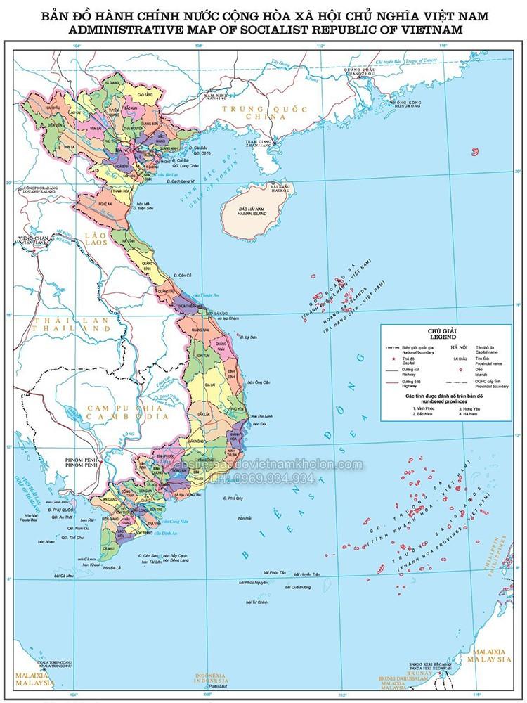 Bản đồ Việt Nam mẫu 8