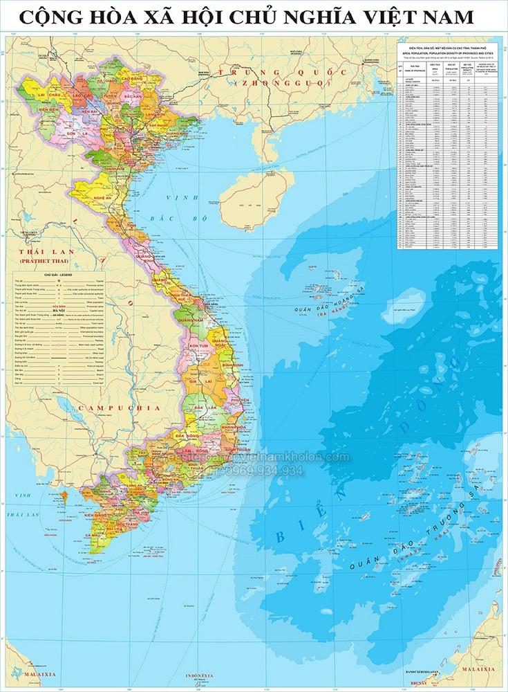 Bản đồ Việt Nam mẫu 9
