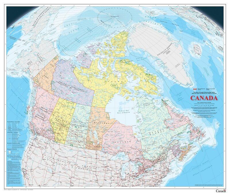 Bản Đồ Canada Chi Tiết