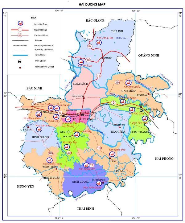hai duong province vietnam map