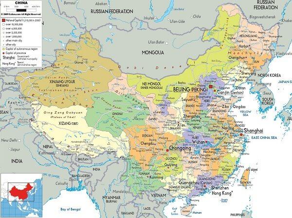 Bản Đồ Trung Quốc – China Map