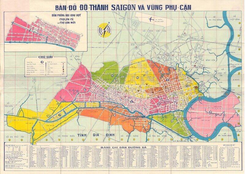 Bản đồ Sài Gòn trước 1975 và ngày nay có gì khác biệt