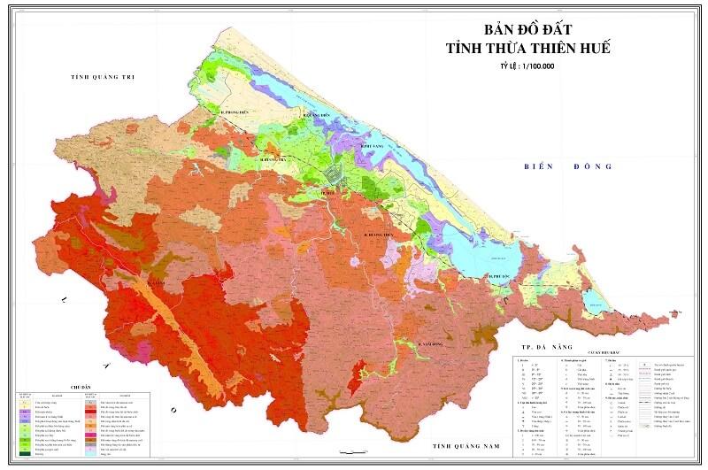 ban do tinh Thua Thien Hue