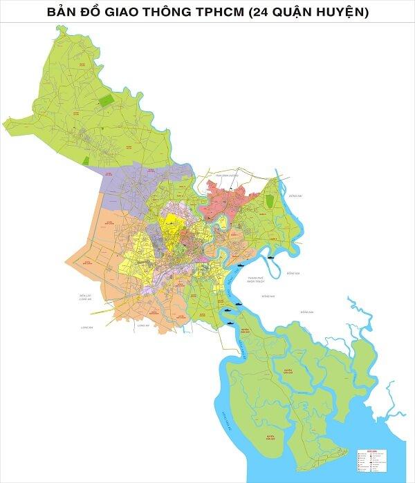 Bản Đồ Các Quận Ở Sài Gòn Mới Nhất Hiện Nay
