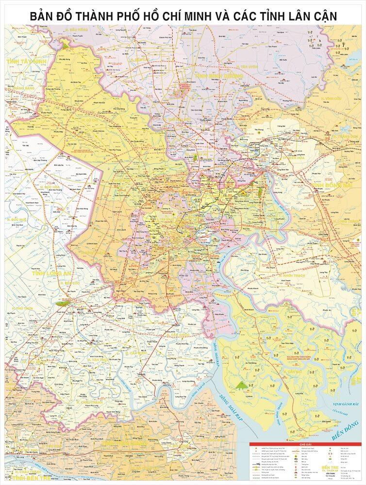 Bản Đồ Thành Phố Hồ Chí Minh Và Các Tỉnh Lân Cận