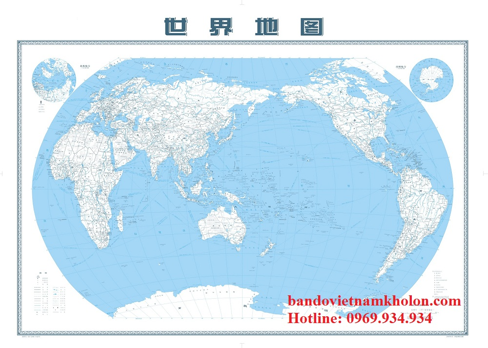 Bản Đồ Thế Giới Tiếng Trung