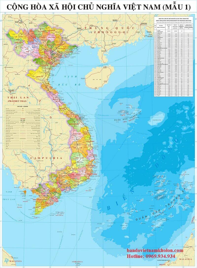 Bản Đồ Việt Nam Giấy Giá Rẻ