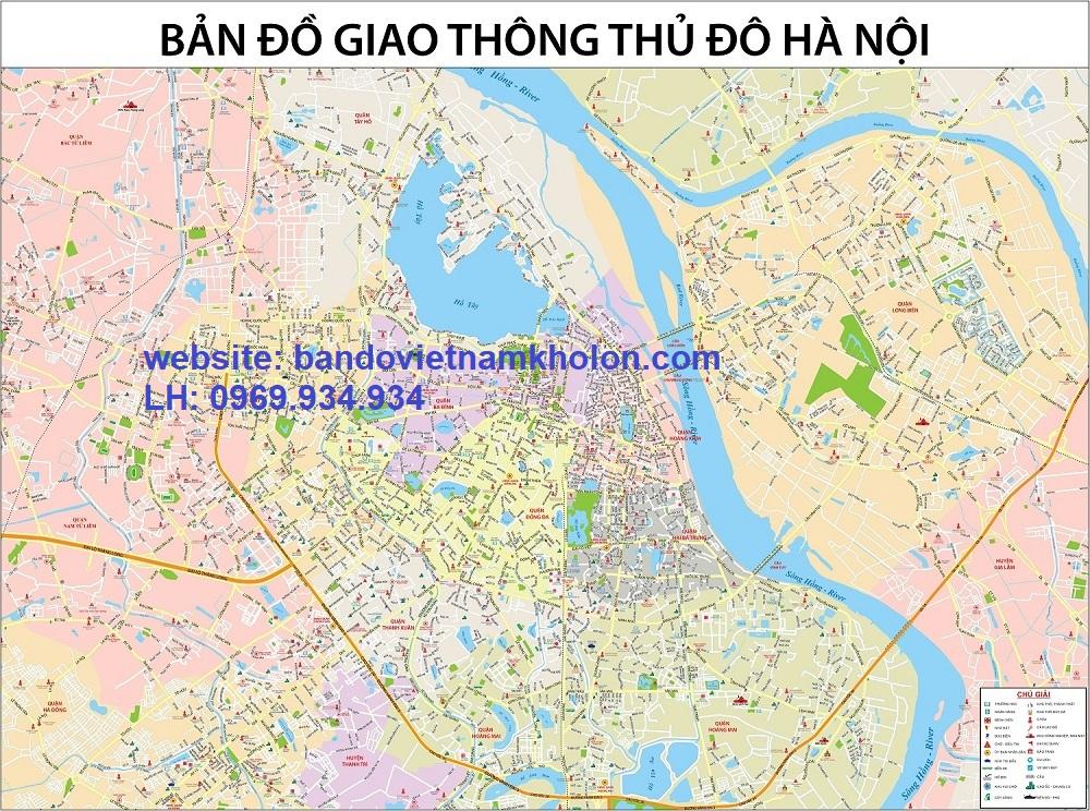 Bản đồ giao thông Hà Nội khổ lớn 5