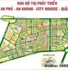 Bản đồ quy hoạch An Phú, An khánh city horse