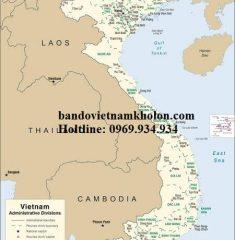 Bản Đồ Việt Nam Tiếng Anh Mẫu 02