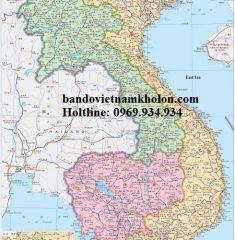 Bản Đồ Việt Nam Tiếng Trung Mẫu 02